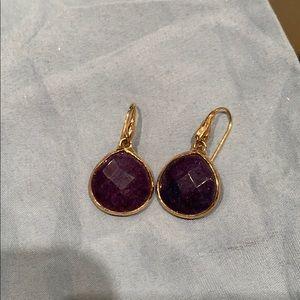 Stella and Dot Lapis earrings